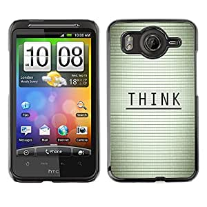 LECELL--Funda protectora / Cubierta / Piel For HTC G10 -- PIENSE MENSAJE TIPOGRAFÍA --