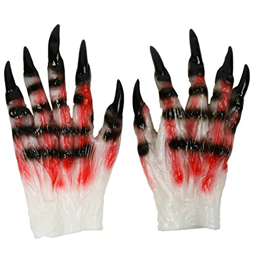 Telephone Pole Halloween Costume (Halloween Latex Monster Ghost Claw Gloves tricky devil/zombie/beast dressup cosplay masquerade)