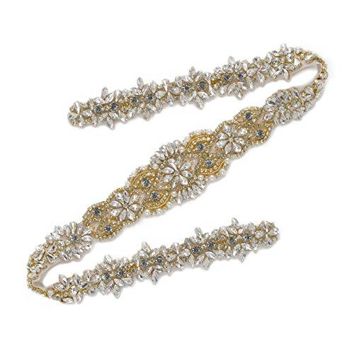 SWEETV Rhinestone Applique Wedding Accessories