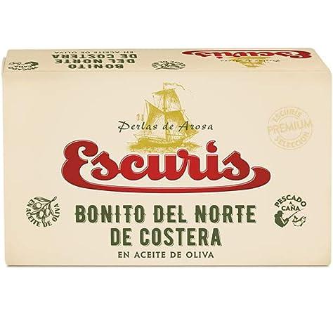 Escuris, Conserva de Bonito del Norte de Costera - 6 latas de 117 gr. (Total: 702 gr.): Amazon.es: Alimentación y bebidas