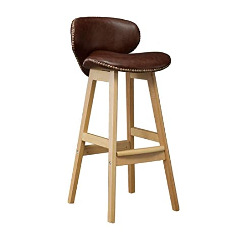 Outstanding Amazon Com Barstools Solid Wood Bar Stools With Backrest Gmtry Best Dining Table And Chair Ideas Images Gmtryco