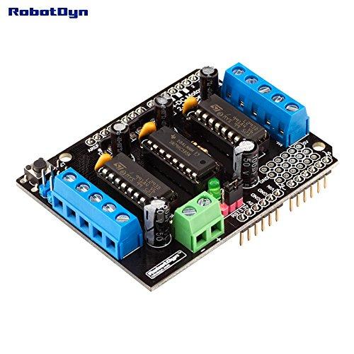 Price comparison product image RobotDyn - Motor Shield L293 / L293D 4DC/2Stepmotors for Arduino Uno, Mega, Leonardo (Assembled)