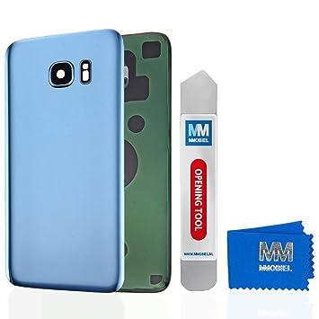 MMOBIEL Tapa Bateria/Carcasa Trasera con Lente de Cámara Compatible con Samsung S7 Edge G935 5.1 Pulg. (Azul Coral)