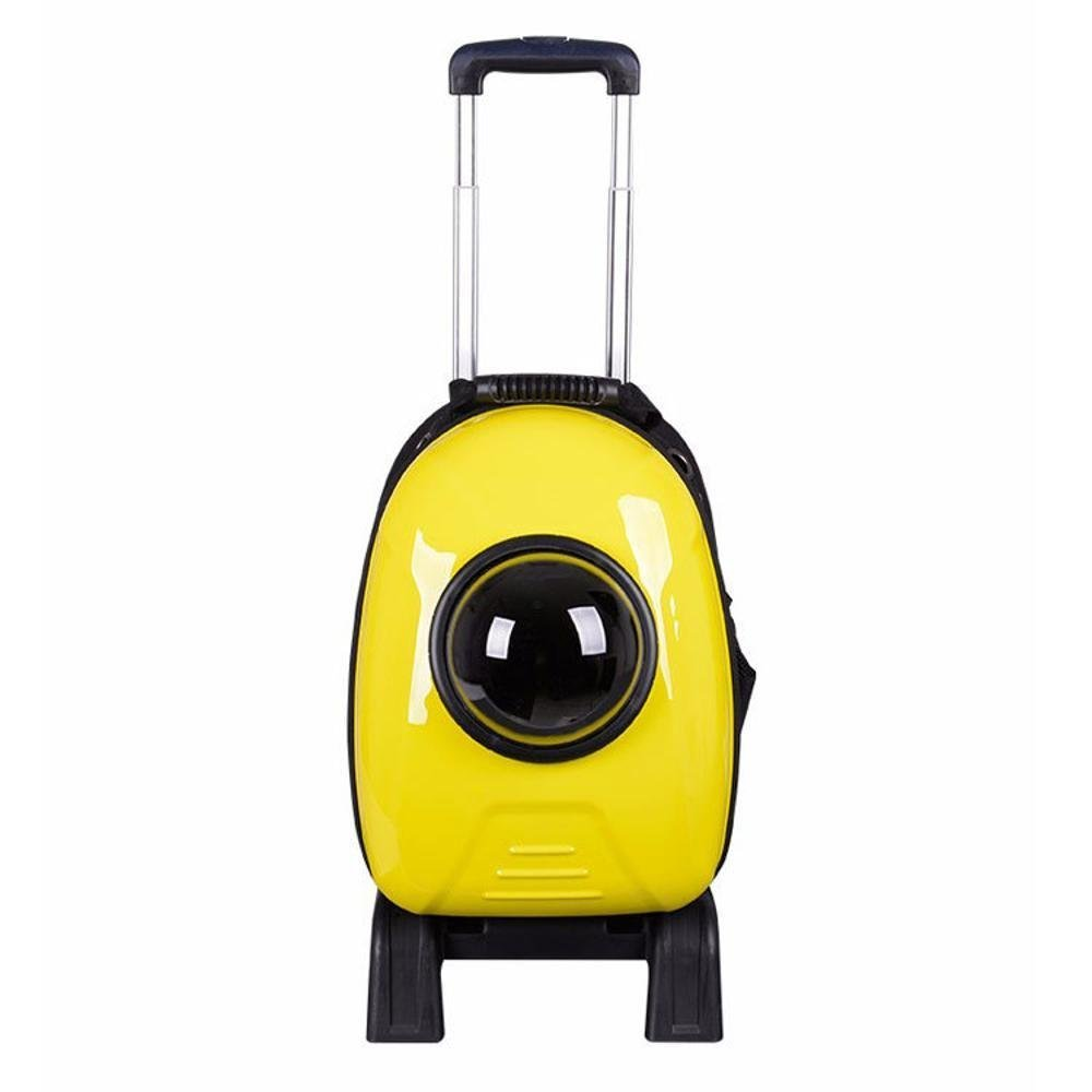 Kaxima Pet Carrier Backpack PVC Space Bag Trolley Box Portable dog bag cat cage, 31  24  43cm