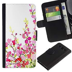 SAMSUNG Galaxy S3 III / i9300 / i747 Modelo colorido cuero carpeta tirón caso cubierta piel Holster Funda protección - Green White Pink Purple Spring