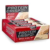 BSN Protein Crisp Bar by Syntha-6, Low Sugar Whey Protein Bar, 20g of Protein, Vanilla Marshmallow, 12 Count (Packaging may vary) For Sale