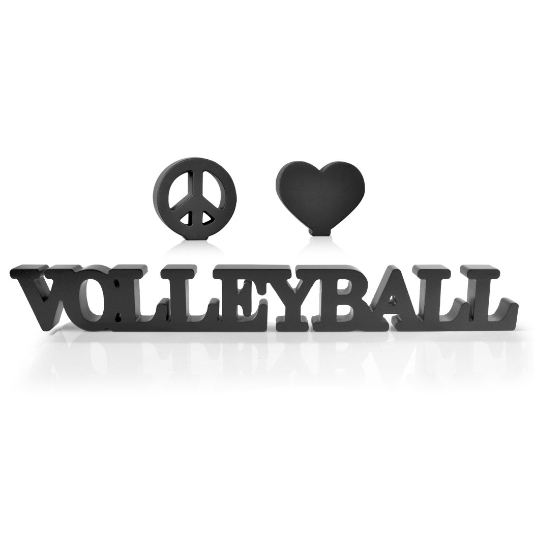 Peace Love Volleyball Wood Words   Wood Words by ChalkTalk SPORTS   Room, Shelf and Desk Décor