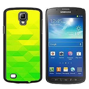 Amarillo verde lima- Metal de aluminio y de plástico duro Caja del teléfono - Negro - Samsung i9295 Galaxy S4 Active / i537 (NOT S4)