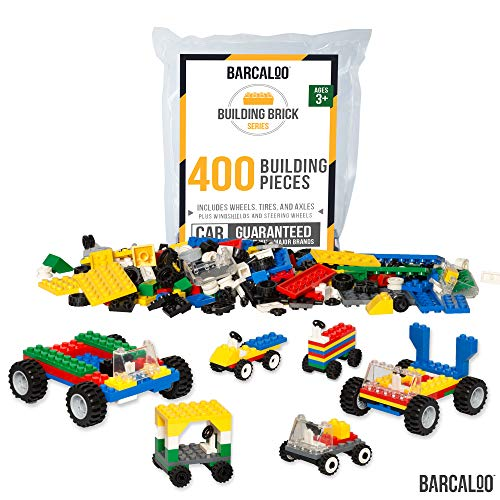 Barcaloo 400 Piece Wheels, Tires, and Axles Set - Building Brick Compatible Play Kit ()