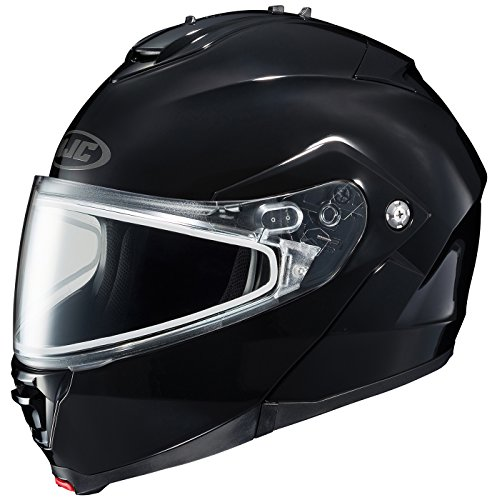 HJC IS-Max II Solid Snow Helmet with Dual Lens Shield (Black, X-Large)
