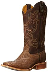 These make it rain men's cowboy boots by tin haul are made for the man who wants to make a statement with his footwear. The western boots are made of genuine leather with an obvious outsole featuring a printed design and the tin haul logo. Do...