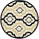 Safavieh Chatham Collection CHT747A Handmade Ivory and Multi Premium Wool Round Area Rug (3′ Diameter) Review