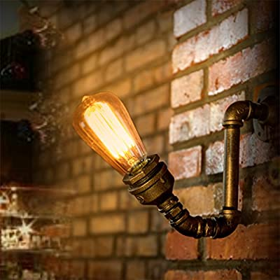 "Y-Nut Loft Style Wall Lamp Sconce""Iron Sprout"", Steam Punk, Industrial, LL-004"