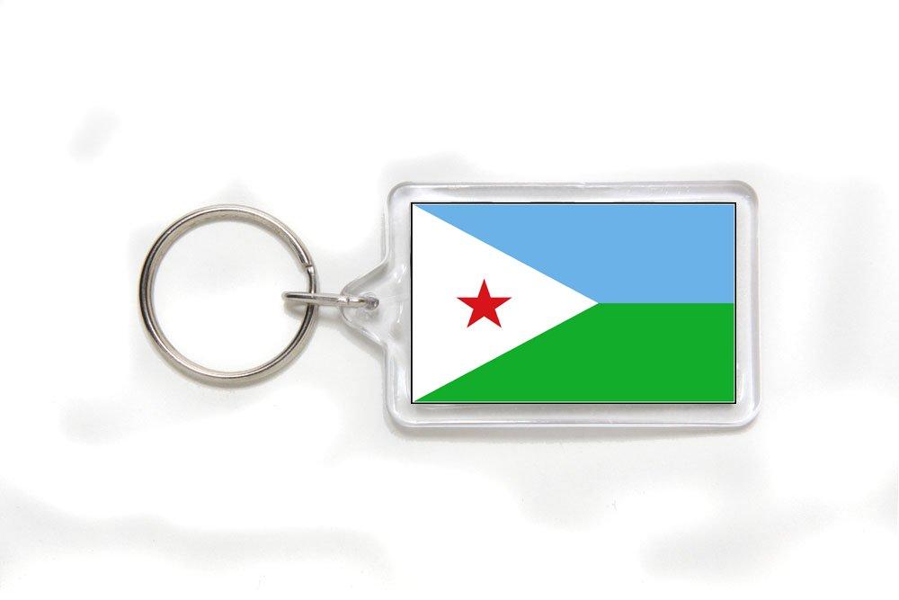Djibouti Djiboutian Flag Double Sided Acrylic Key Ring Small