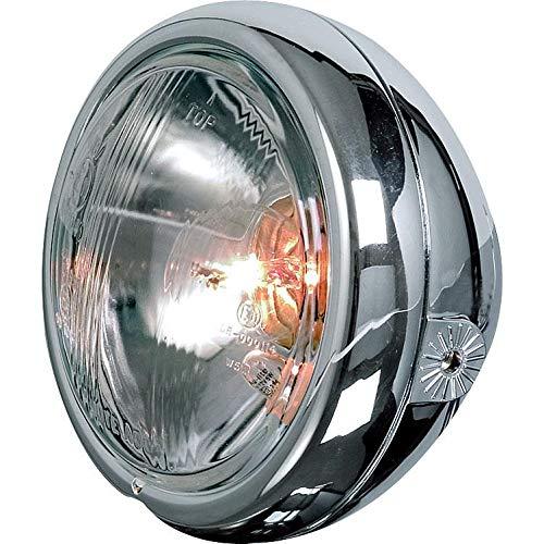 P/&W Motorrad-Scheinwerfer Chromscheinwerfer 123mm seitliche Befestigung