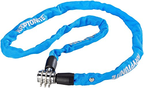 Kryptonite Keeper Bicycle 4X100cm Combo Chain, Blue