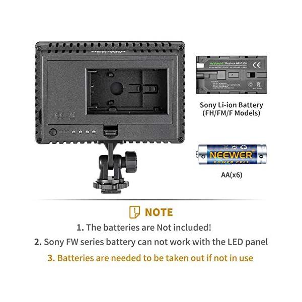 Neewer Pannello LED 160pcs da Potenza Ultra Alta Regolabile per Camera Digitale/Videocamera Video Luce/Luce LED per… 2 spesavip