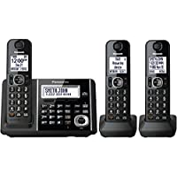 Panasonic KXTGF343B Dect 3-Handset Landline Telephone (Certified Refurbished)