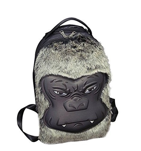 Moolecole Kid's Bag Schoolbag 3D Stereo Gorilla Shoulder Bag Tourism And Leisure Backpack