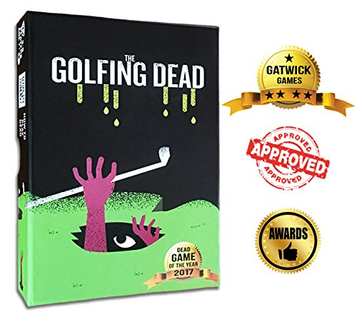 The Golfing Dead - Only One Survives - Best Zombie Card Game for Family, Adults, Kids, Teens, Ages 7 Years and Up. Quick and Easy Trending Fun! Fun for Parties or Competitive Friends - 2-6 Players. (Shadow Mount Quick)