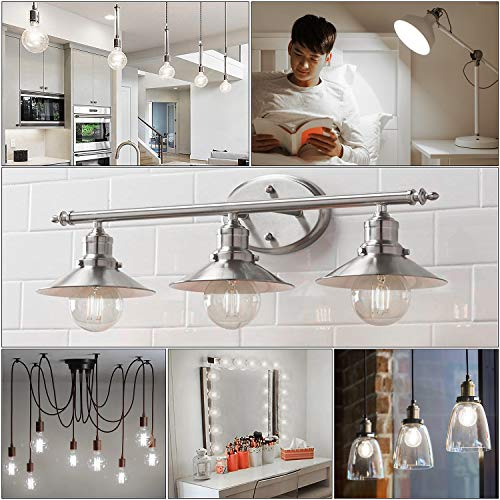 60W Equivalent G25 Dimmable LED Globe Light Bulbs, 7Watt, Medium Screw Base (E26), 4000K Kelvin Daylight White, 800Lm, Bathroom Vanity Mirror Light, 6-Pack