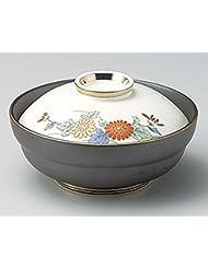 Yuzen Kiku 5 6inch Set Of 5 Medium Bowls With Covers White Porcelain Made In Japan