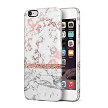 White & Rose Gold Marble Hard Plastic Phone Case For iPhone 6 & iPhone 6s