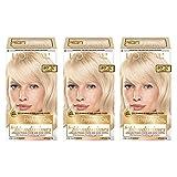 L'Oréal Paris Superior Preference Permanent Hair Color, LB01 Extra Light Ash Blonde, 3 Count