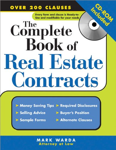 The Complete Book of Real Estate Contracts: Mark Warda ...