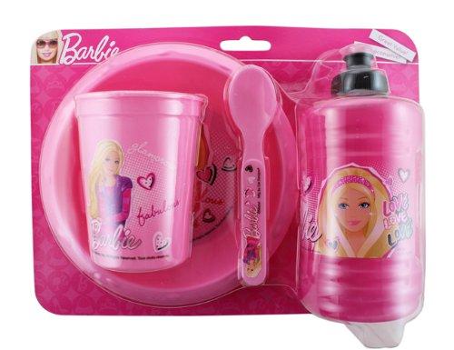Barbie Breakfast Set and School Water Jug - Barbie Dinner Set (4 Piece)