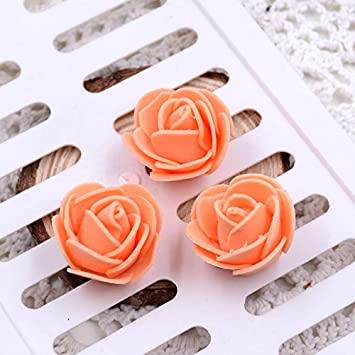 50pcs 19Colors 3cm Small Mini Roses Foam Artificial Flowers For Wedding Festive