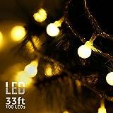 TORCHSTAR 33ft 100 LEDs Globe String Lights, 8 Modes, Extendable, IP67 Waterproof, PVC