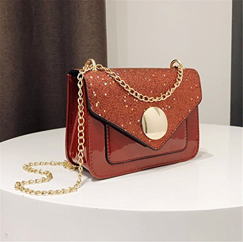 Shoulder Clutch Crossbody Handbags Cell Purses Women Phone Leather Bag Evening Nodykka Red For Envelope 6dxCwHC