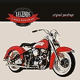 Vintage Motorcycle Calendar - 2018 Calendar - Harley Davidson Calendar - Legends Wall Calendar by Presco Group