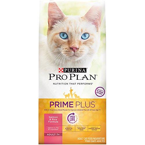 Purina Pro Plan Prime Plus Adult 7+ Salmon & Rice Formula Dry Cat Food - 5.5 Lb. Bag