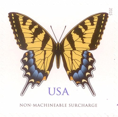 USPS Eastern Tiger Swallowtail - Sheet of 20 stamps (two-ounce Forever stamps, greeting card, square envelopes, Wedding stamps)