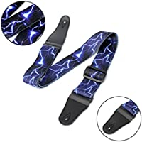 New Adjustable Lightning Guitar Strap For Electric Acoustic Guitar Bass Rock By KTOY