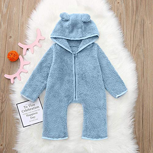 e5255c1c8296 Franterd Baby Boys Girls Wither Romper Kids Lovely Animal Ear Thick Fluffy Warm  Hooded Onesie Jumpsuit