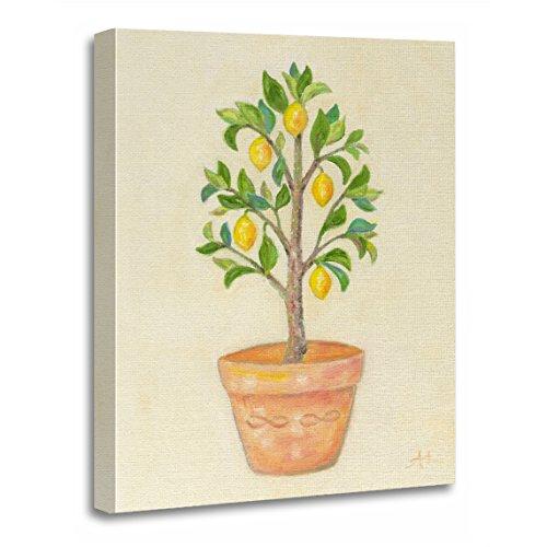 - TORASS Canvas Wall Art Print Yellow Topiary Lemon Tree Green Italian Artwork for Home Decor 16