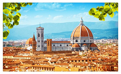 Italy Houses From above Florence Cities travel sites Postcard Post card ()