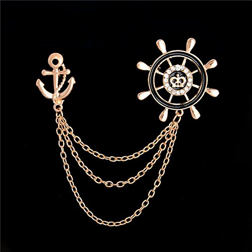 1 pc Vintage Retro Mens Banquet Suits Pins Anchor Brooch Pin For - Eyeglasses Rhinestones With Dior