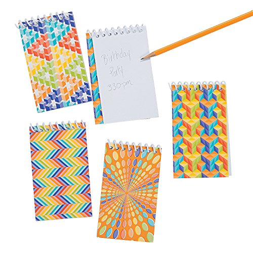 Fun Express - Optical Illusion Spiral Bound Notepad - Stationery - Notepads - Notepads - 24 Pieces