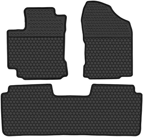 San Auto Car Rubber Floor Mat Custom Fit for Toyota Corolla Sedan 2014 2015 2016 2017 2018 2019 Automatic Transmission Full Black Auto Liner Mats All Weather Heavy Duty Odorless No im Hatchback Model