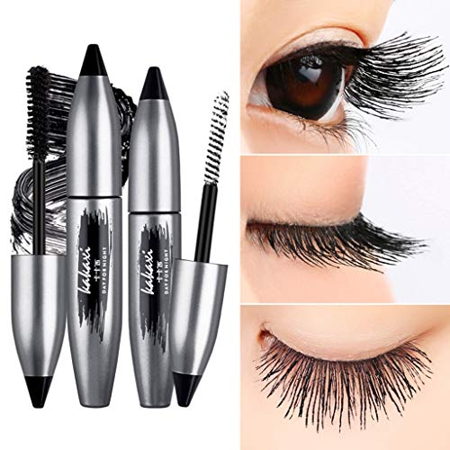 (Celendi Waterproof Dense Non Staining Long Grafting Mascara Double Tube Combination Set)