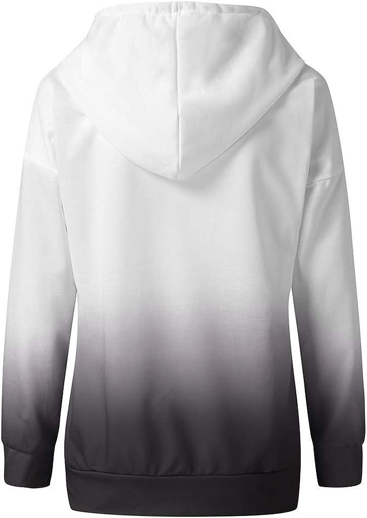 iQKA Women Plus Size Color Block Gradient Pullover Heart Print Long Sleeve Tops Oversized Lightweight Sweatshirt