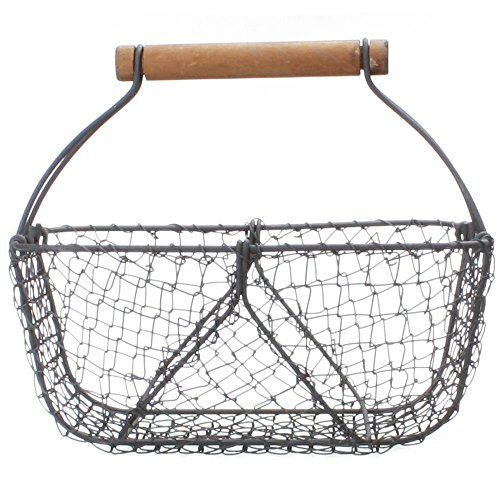 Vintage-Style Wire Shabby Garden Chic Basket Home Decor