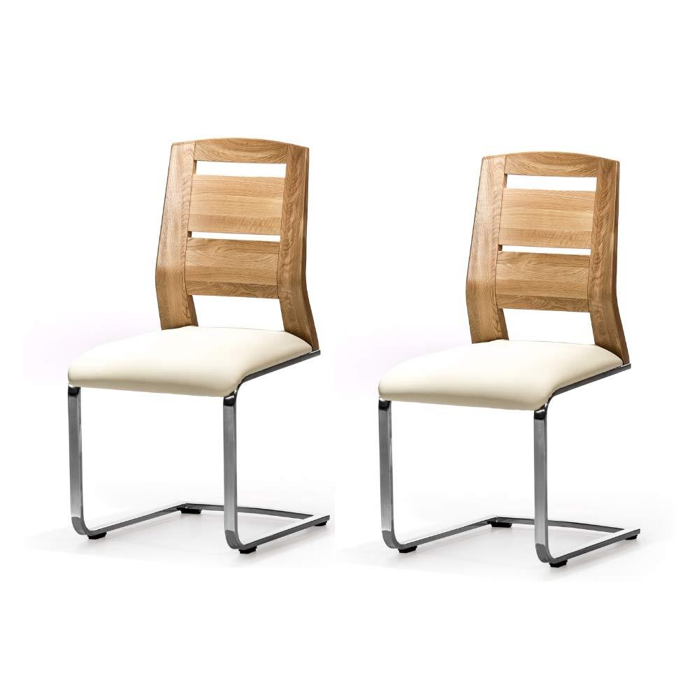 Alkove - Hayes - Set de 2 sillas moderna de madera maciza ...
