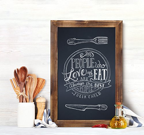 HBCY Creations Rustic Torched Wood Magnetic Wall Chalkboard, Extra Large Size 20'' x 30'', Framed Decorative Chalkboard - Great for Kitchen Decor, Weddings, Restaurant Menus and More! … (20'' x 30'') by HBCY Creations (Image #4)