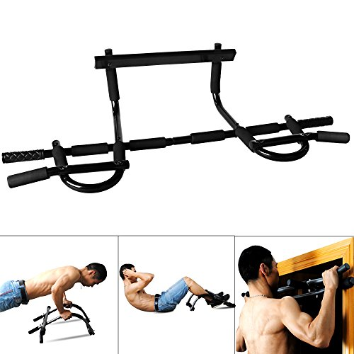 Heavy Duty Doorway Pull Up/Chin Up Bar Exerciser for Home Office Gym, 330 lb(US Stock)