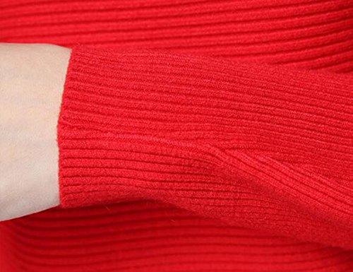 Primavera Suéter Suéter Flojo Camisa Del Palo De Manga Sólido Suéter Del Color Pink